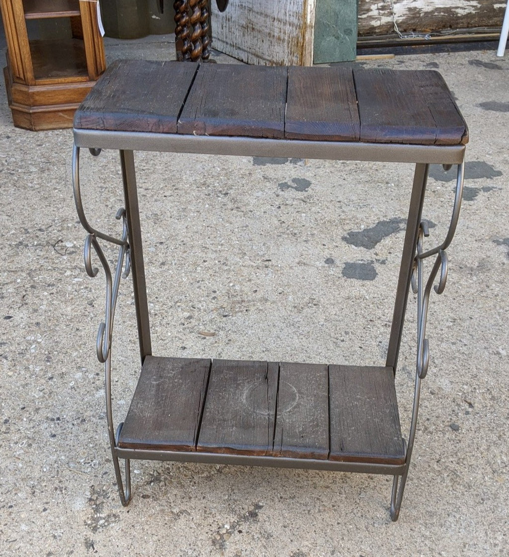 OAK AND IRON SIDE TABLE