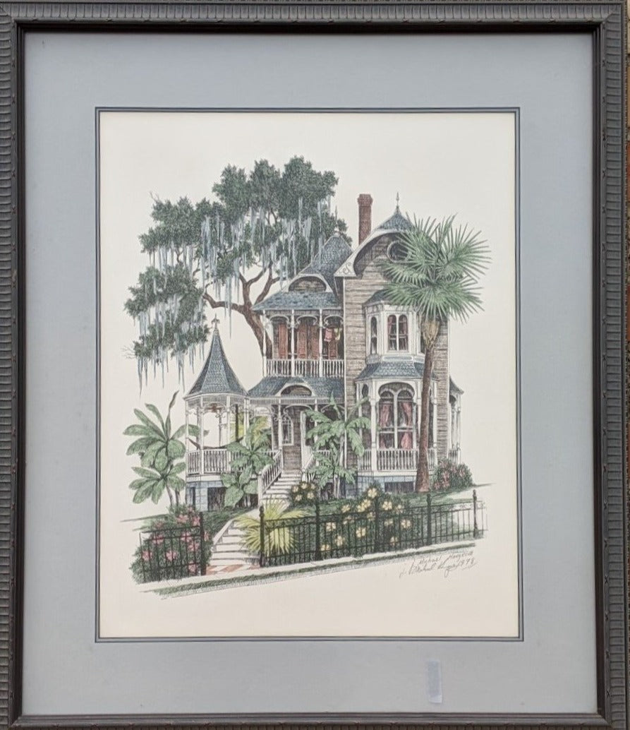 VICTORIAN HOUSE WATERCOLOR BY MICHAEL HARGROVE