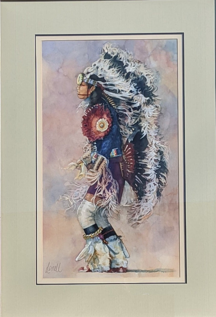 INDIAN WATER COLOR BY FT. WORTH ARTIST DARNELL