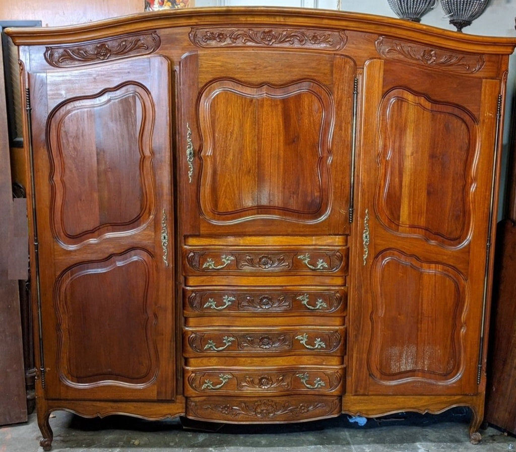 LOUIS XV ARMOIRE WITH CENTER DRAWERS