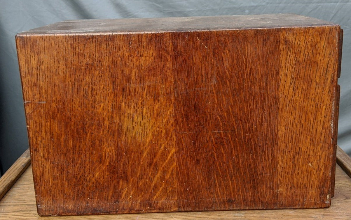 AMERICAN OAK DOVETAILED FILE BOX