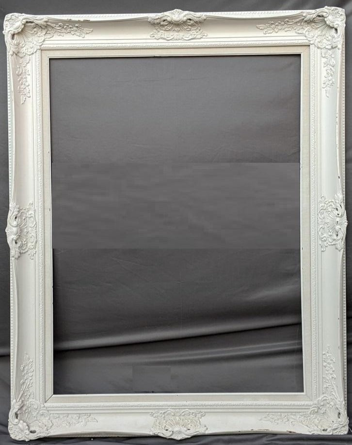 LARGE ORNATE FRAME PAINTED WHITE