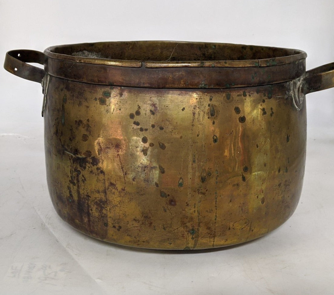 SMALL BRASS JAM POT