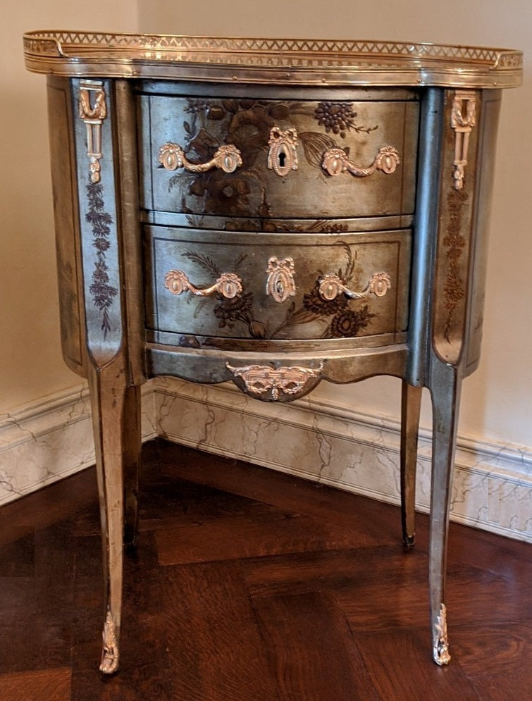 LOUIS XV STYLE 2 DRAWER LAMP TABLE/CHEST