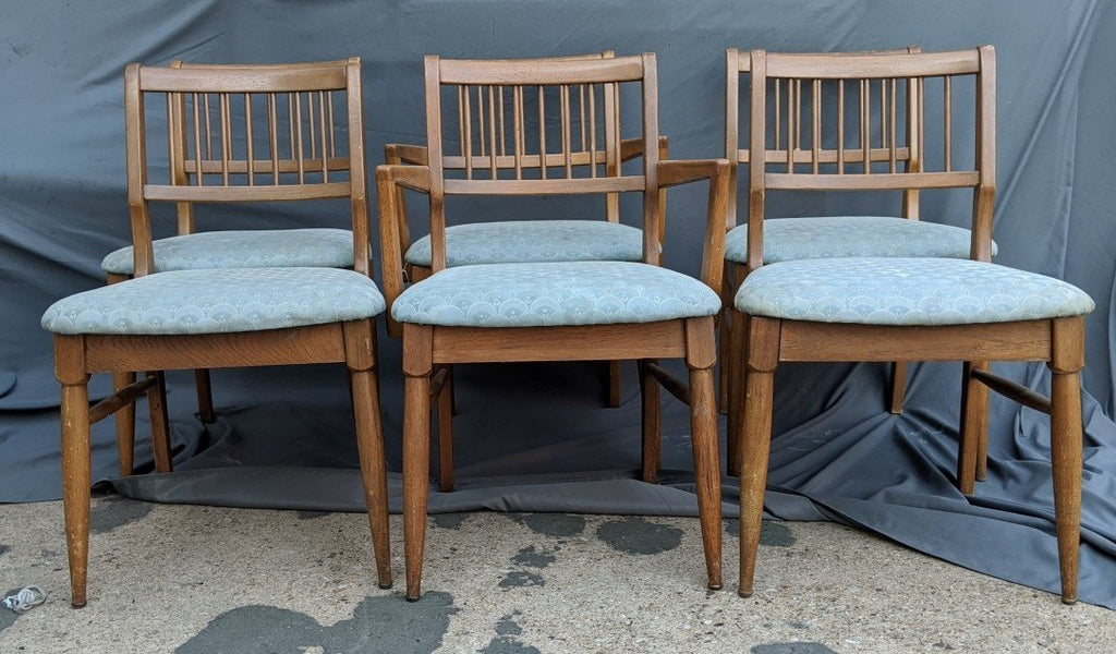 SET OF 6 MID CENTURY CHAIRS INCLUDING 2 ARM CHAIRS