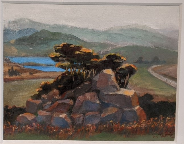 LANDSCAPE WITH LAKES AND ROCKS, SONOMA COUNTY, CA BY MEDLEY MCLARY
