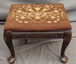 SMALL QUEEN ANNE FOOTSTOOL