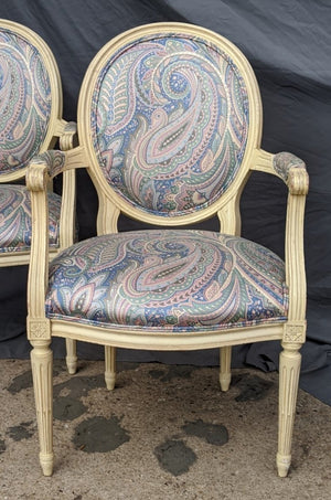 PAIR OF LOUIS XVI VIBRANT FAUTEUILS