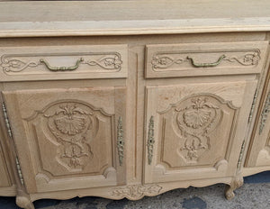 COUNTRY FRENCH RAW OAK SIDEBOARD