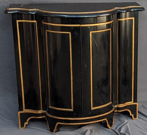 BLACK AND GOLD NAPOLEON III STYLE CONSOLE