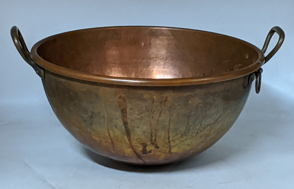 LARGE FRENCH COPPER CANDY POT