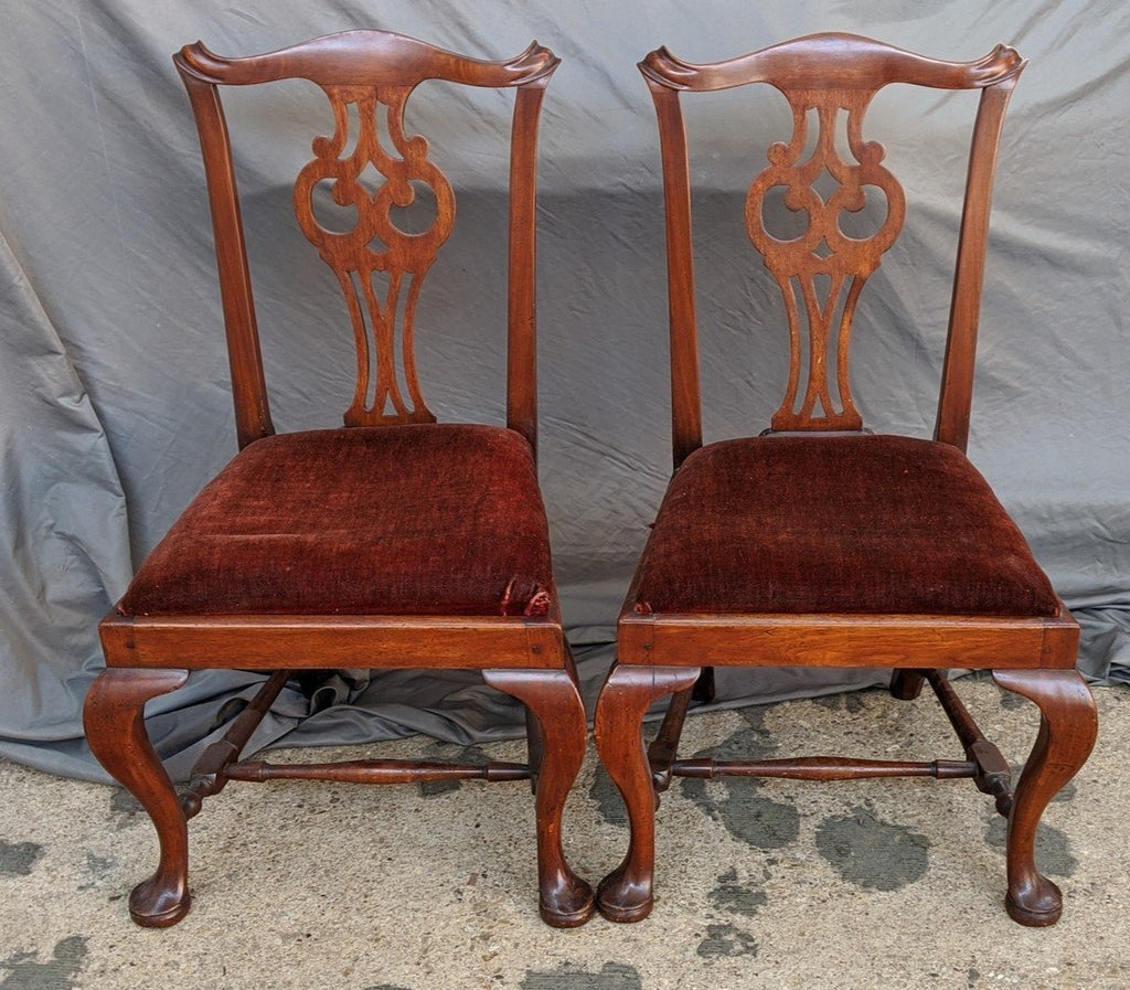 PAIR OF PERIOD QUEEN ANN CHAIRS