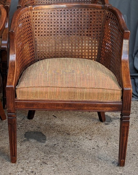 CLUB CHAIR WITH CANE SIDES AND CUSHION