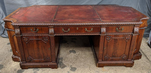 QUALITY CHIPPENDALE PARTNERS DESK