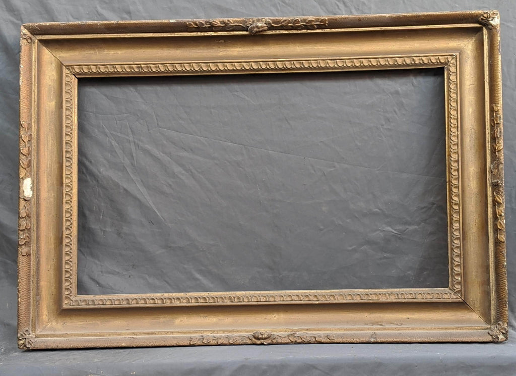 AS FOUND THICK WOOD AND PLASTER GILT FRAME