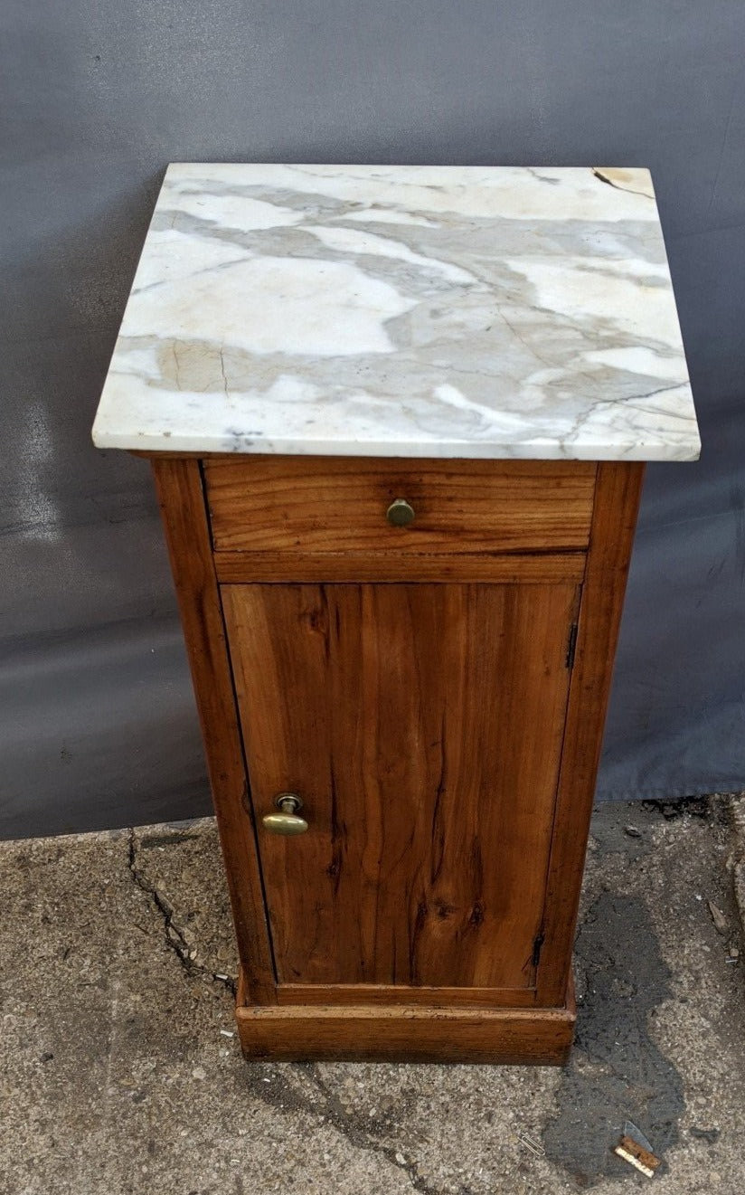 MARBLE TOP LOUIS PHILLIPE NIGHT STAND