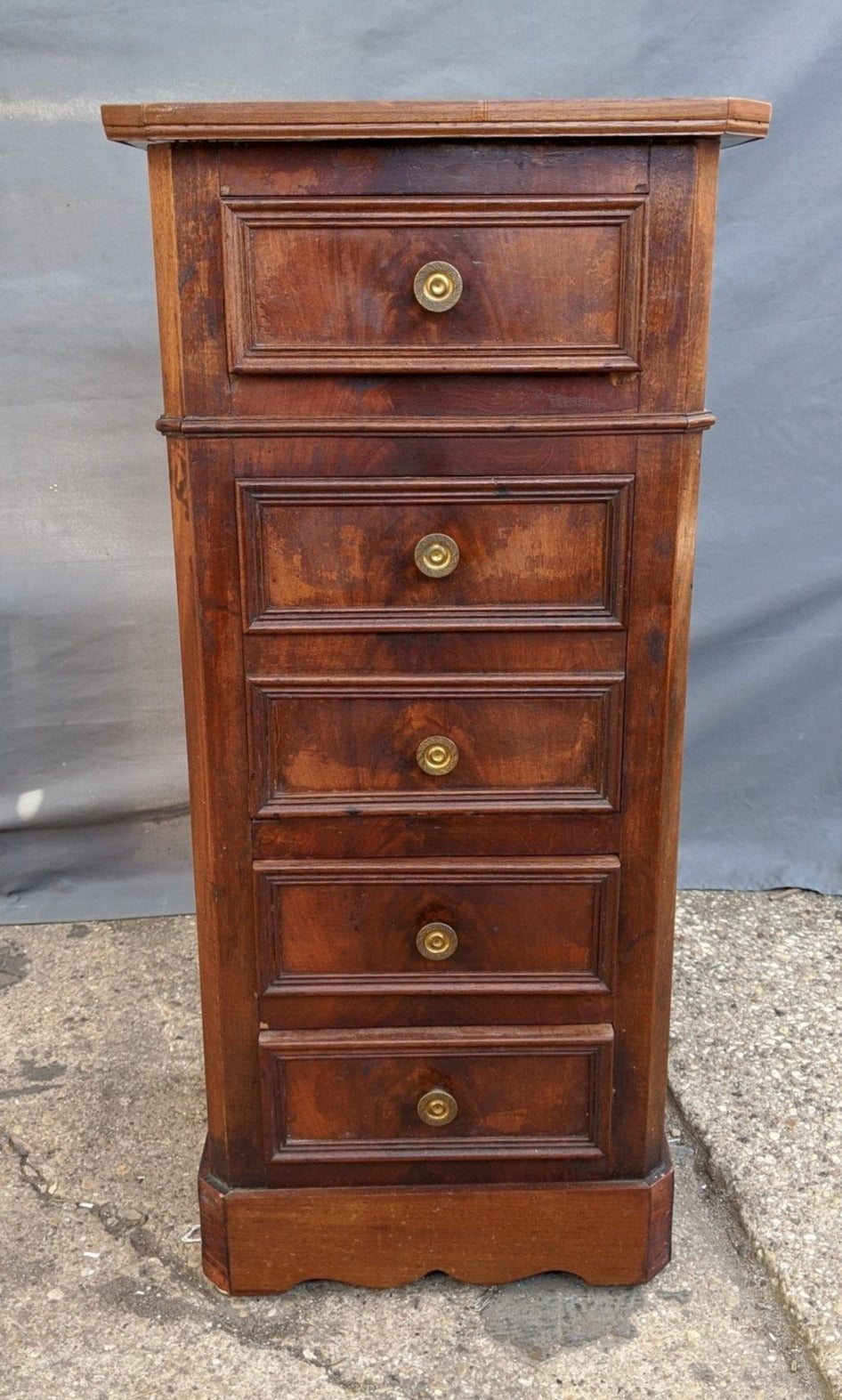 MAHOGANY SIDE CABINET WITH DRAWERS
