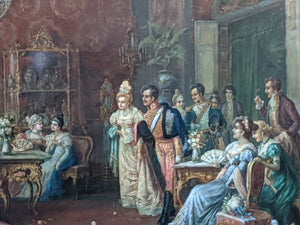LARGE OIL PAINTING OF A NAPOLEAN RECEPTION BY HANS PINGGERA