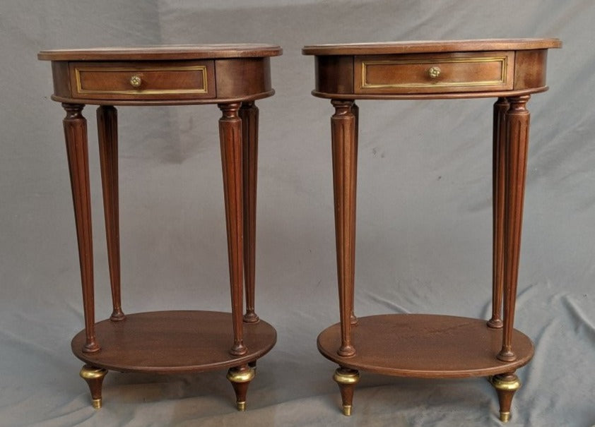 PAIR OF PETITE LOUIS XVI LAMP TABLES