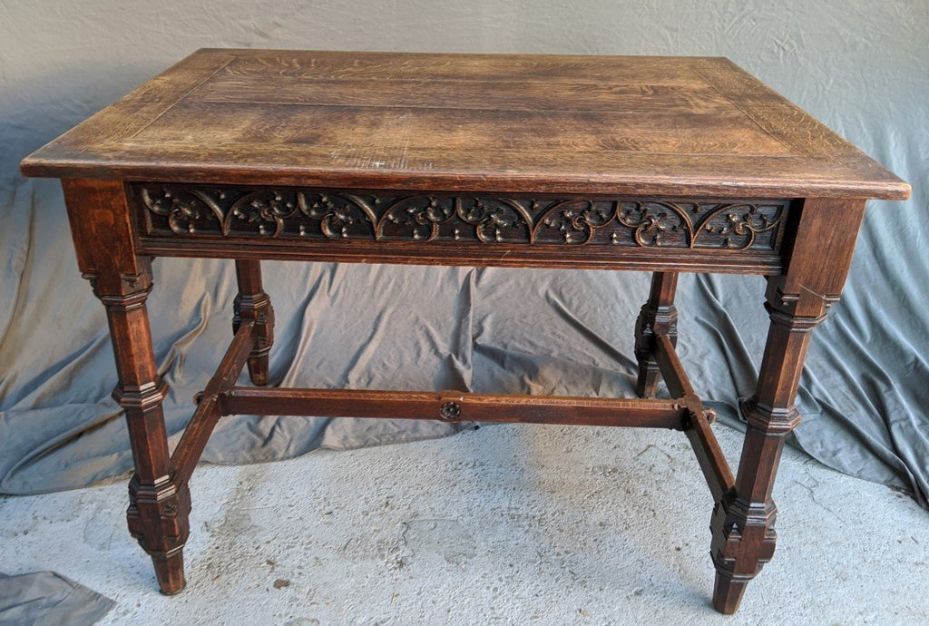 OAK GOTHIC LIBRARY TABLE