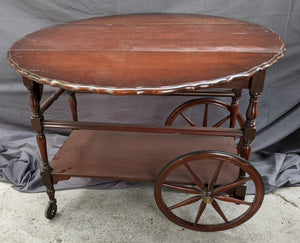 MAHOGANY LARGE TEA CART