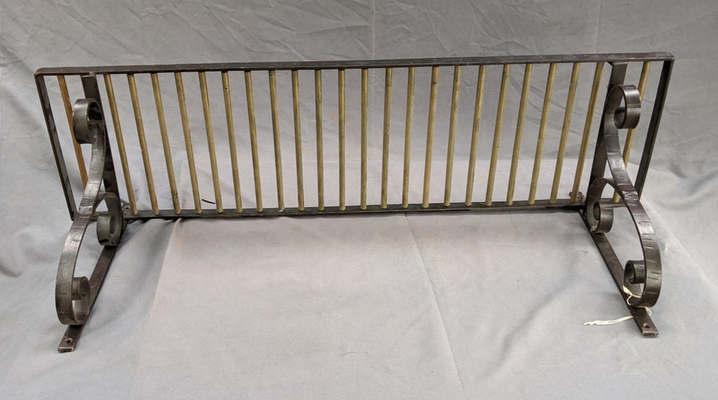 BRASS AND STEEL TRAIN SHELF