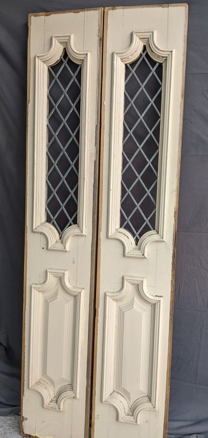 PAIR NOT REAL OLD LEADED SIDELIGHTS MISSING GLASS