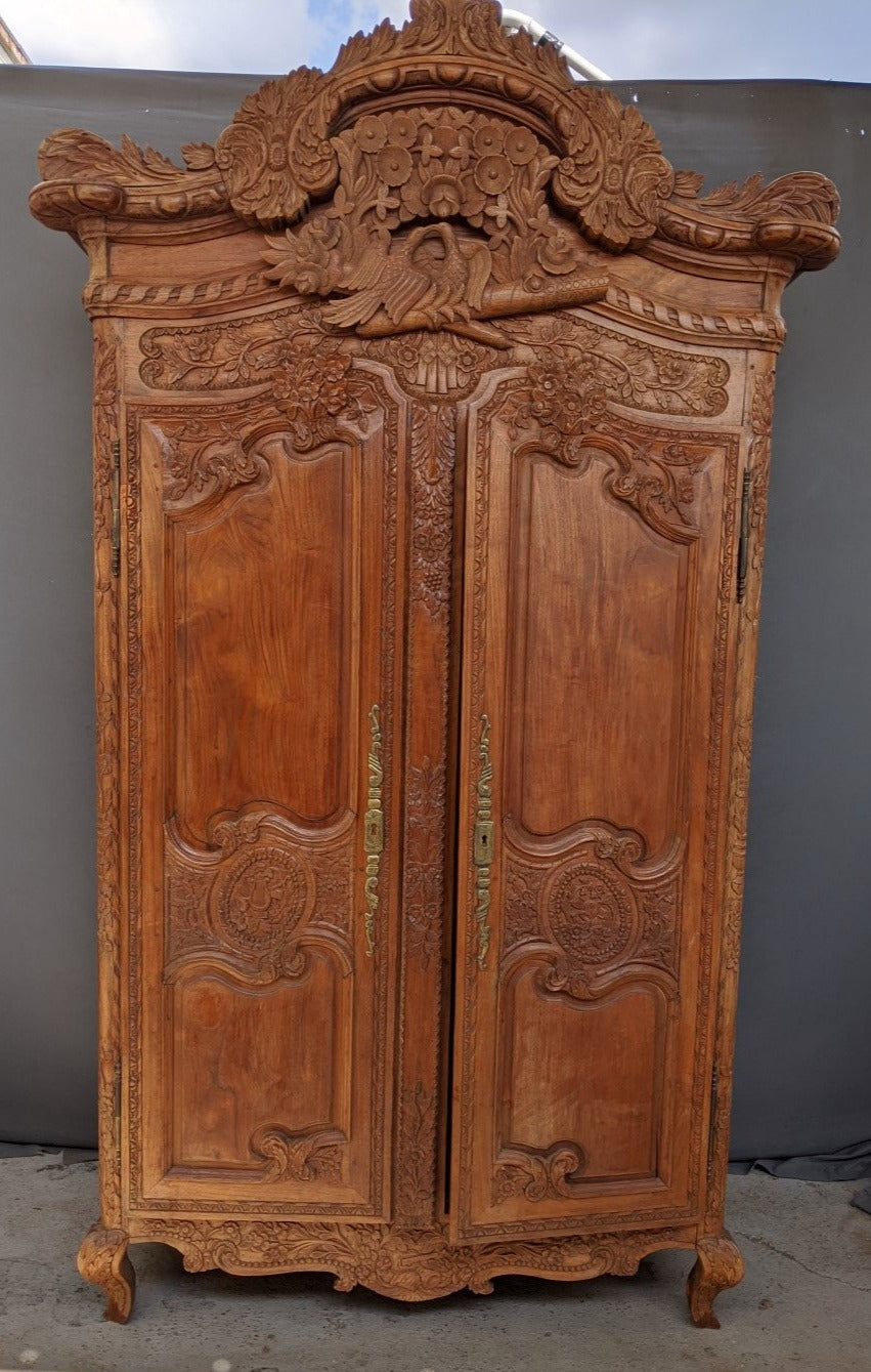 FRENCH STYLE WEDDING ARMOIRE - NOT OLD