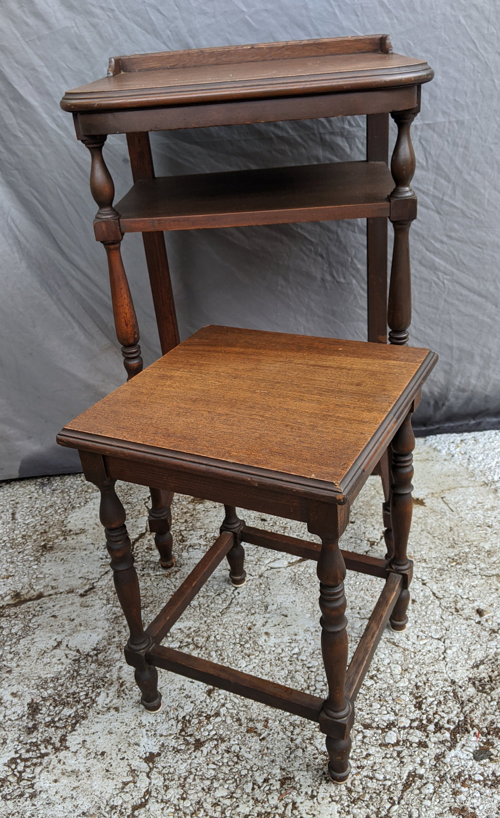 ENGLISH WRITING TABLE WITH STOOL