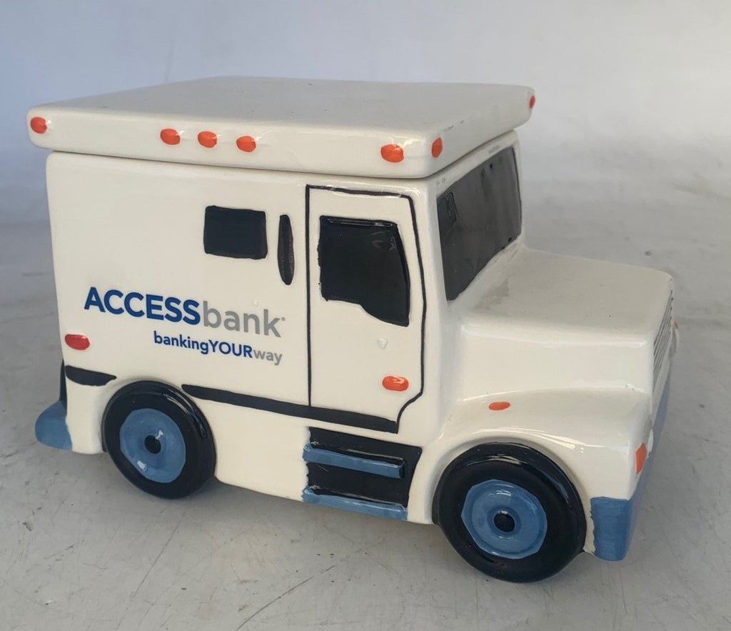 ACCESS BANK BRANDED ARMORED VAN COOKIE JAR OR GIFT BOX