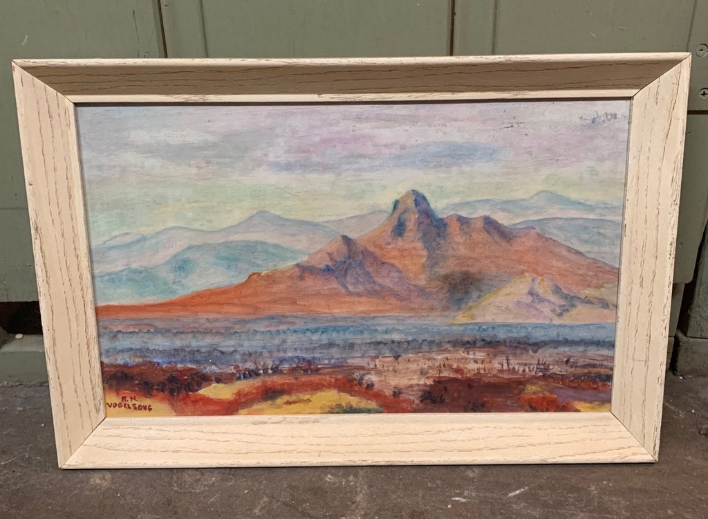 ROBERT VOGELSONG SMALL DESERT MOUNTAINS OIL PAINTING