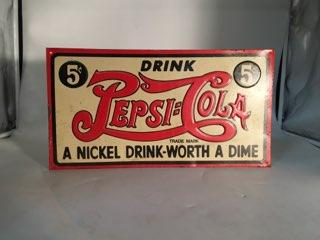 NOT OLD PEPSI TIN METAL SIGN