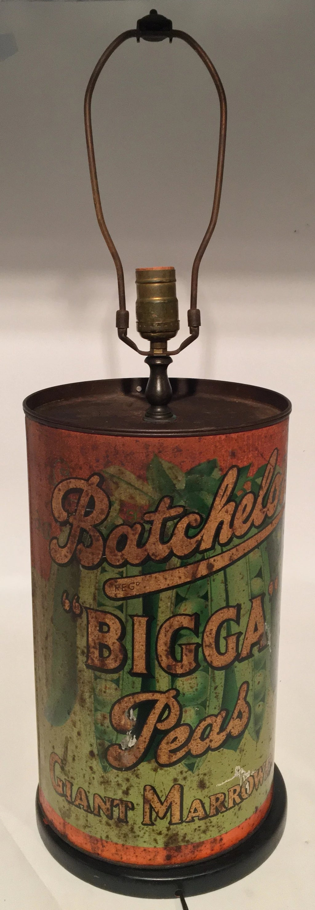 "BACHELOR'S ""BIGGA"" PEAS TIN LAMP"