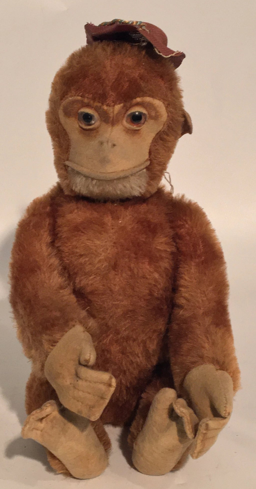 ANTIQUE JOINTED MOHAIR STEIFF STYLE MONKEY