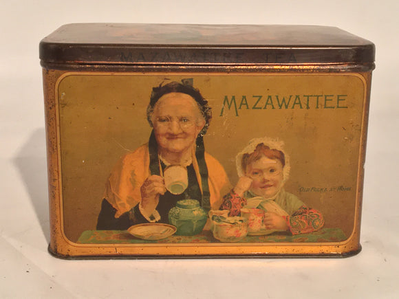 MAZAWATTEE ADVERTISING TIN