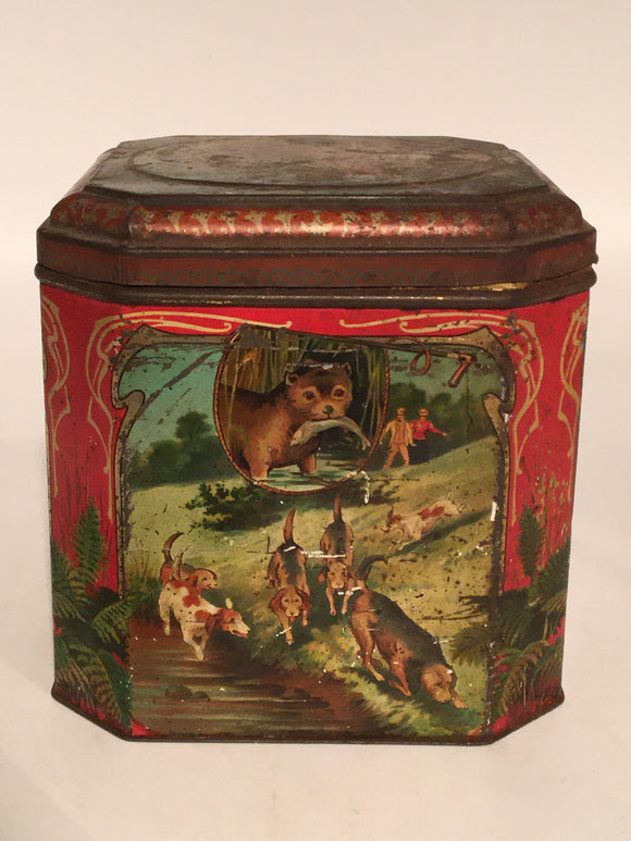 HUNT THEME ADVERTISING TIN