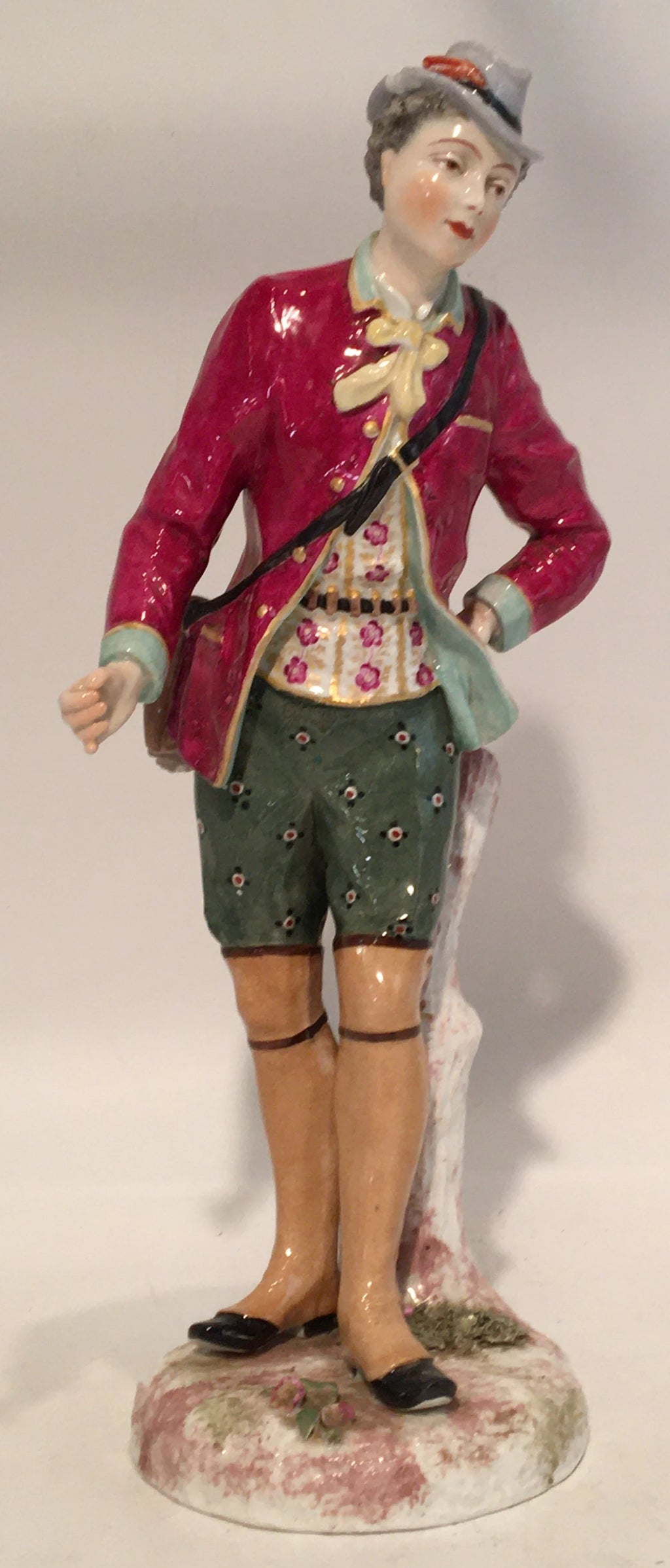 MEISSEN ALPINE LADY FIGURE