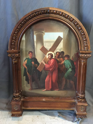 STATION OF THE CROSS OIL PAINTING BY EDOUARD CABANE