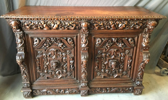 INCREDIBLE CARVED MECHILLIN SIDEBOARD