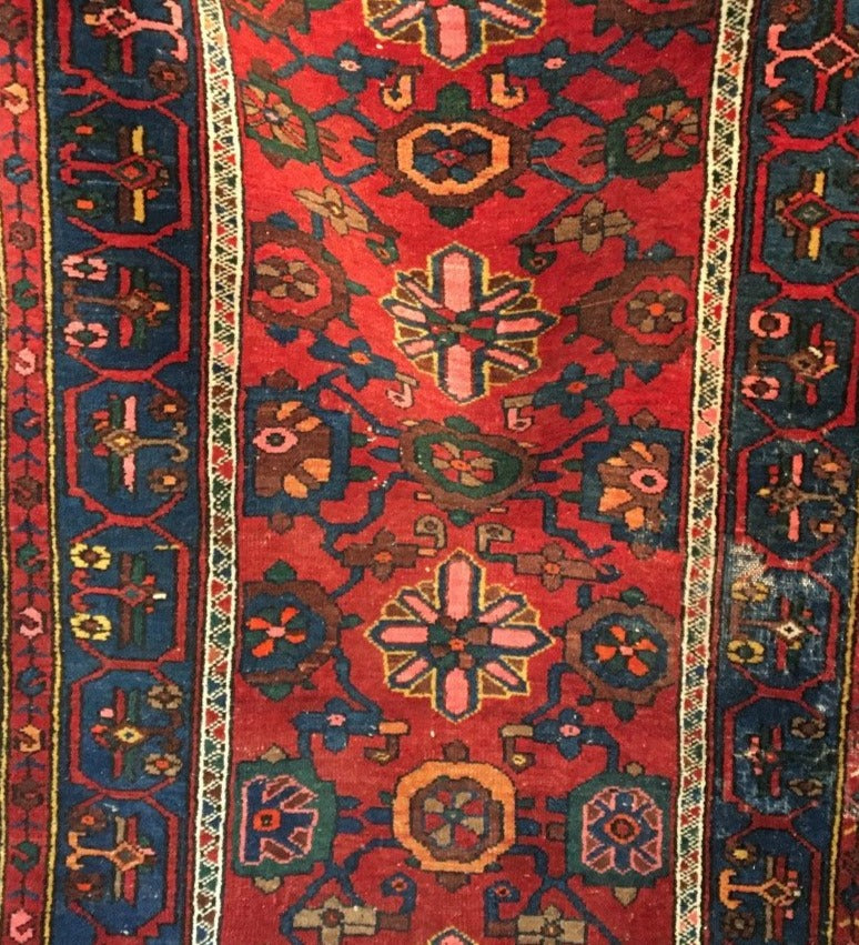 ANTIQUE HAND TIED PERSIAN RUNNER