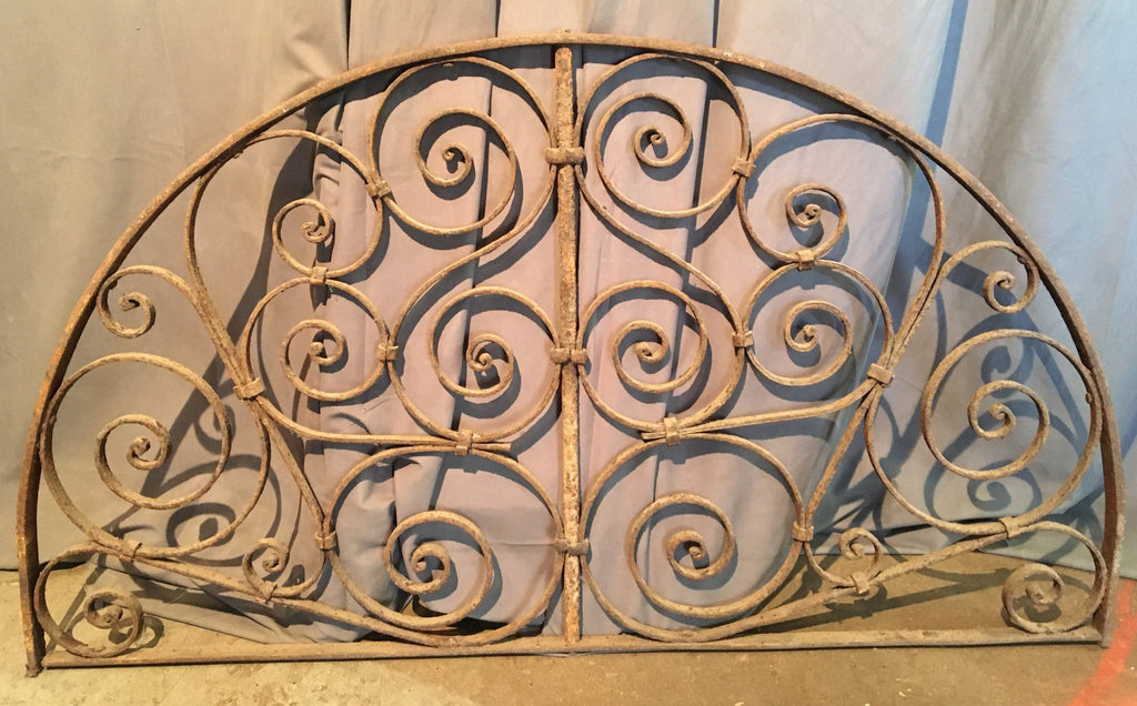 ANTIQUE WROUGHT IRON ARCHED ARCHITECTURAL