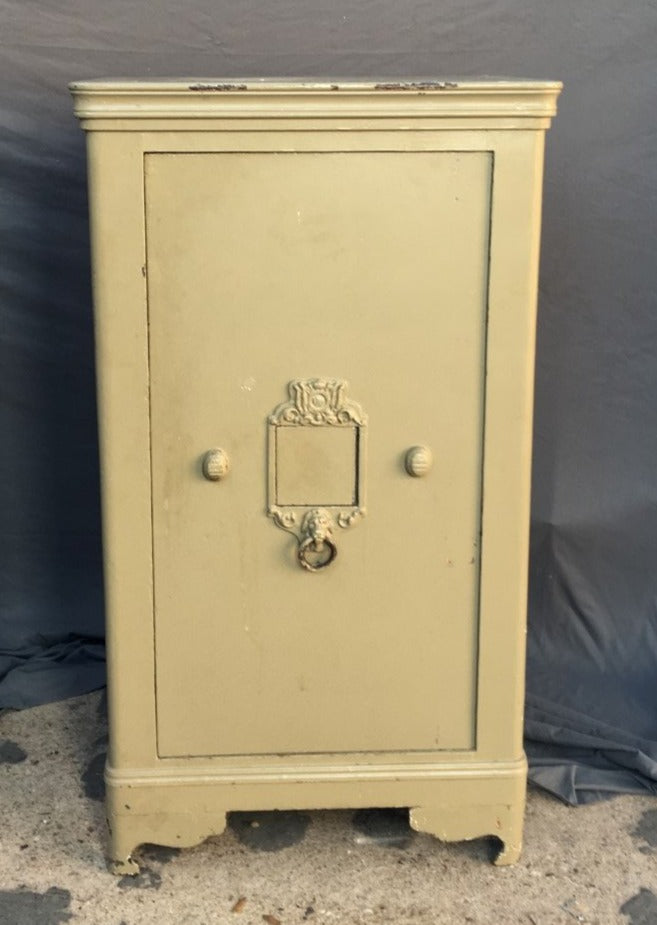 LARGE BELGIAN SAFE WITH KEY AND COMBINATION