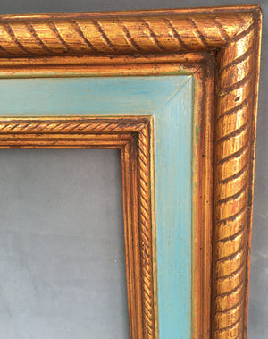 ROSE GOLD FRAME WITH BLUE BORDER