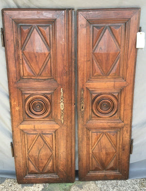 PAIR OF LOUIS XIII PERIOD DOORS