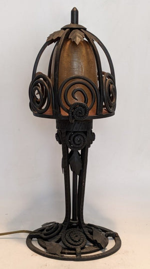 FRENCH ART DECO IRON TABLE LAMP
