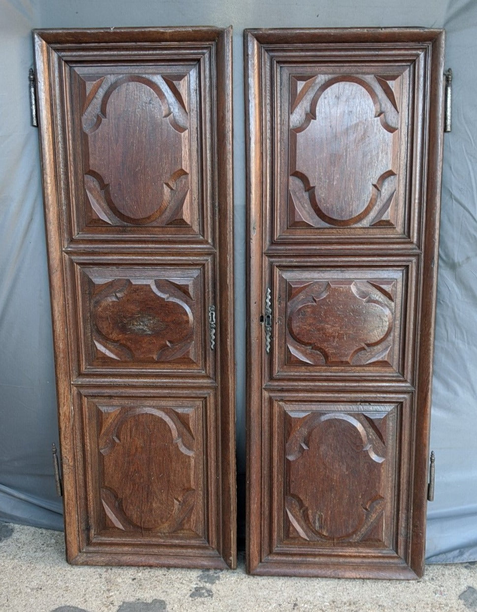 PAIR OF EARLY FRENCH CABINET DOORS