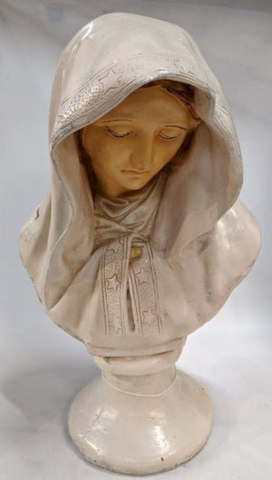 CHALK STATUE OT THE VIRGIN MARY (MADONNA)