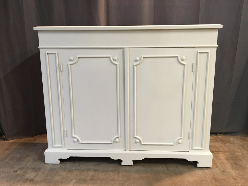 SHALLOW PAINTED CONSOLE CABINET
