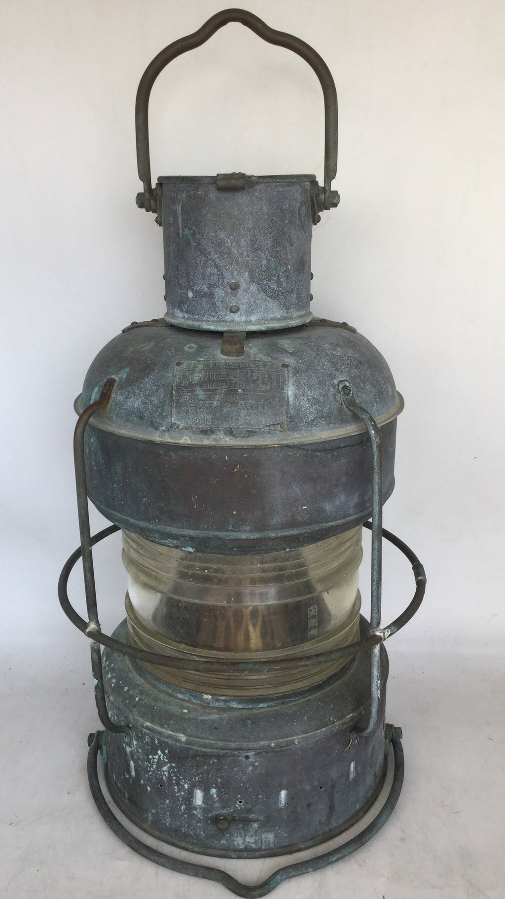 LARGE COPPER JAPANESE SHIP LANTERN