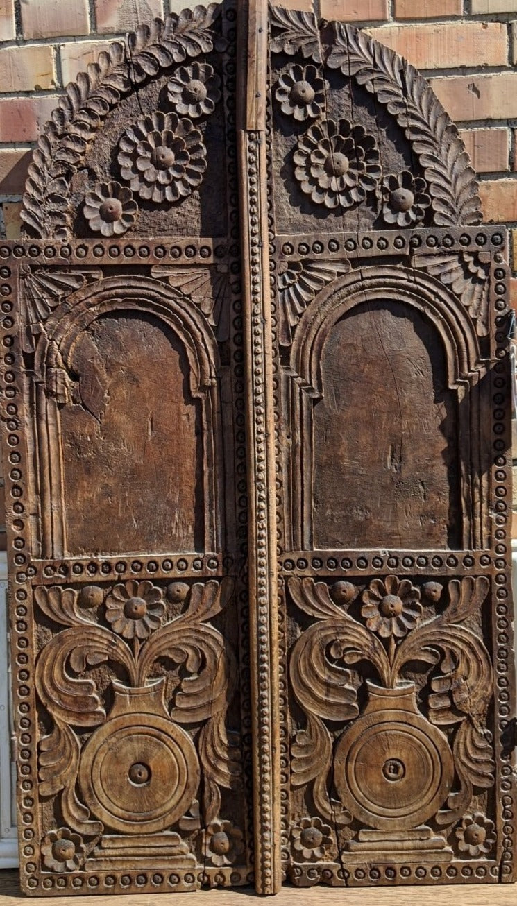 PAIR OF EARLY MOROCCAN DOORS OR WINDOW SHUTTERS